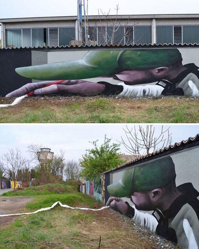 30 fotos de arte de rua em 3D que interagem com seus arredores 9