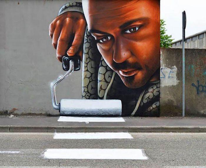30 fotos de arte de rua em 3D que interagem com seus arredores 10