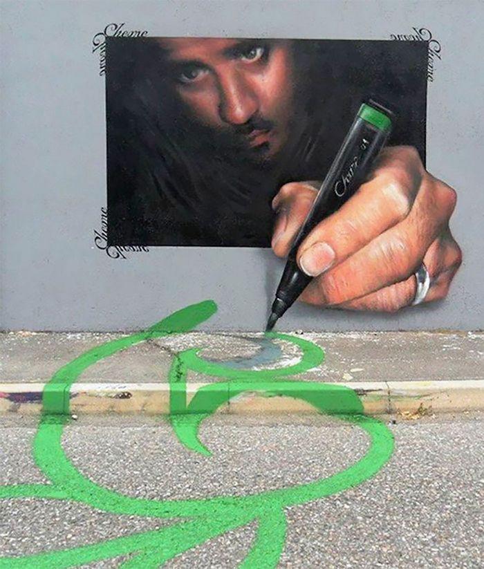 30 fotos de arte de rua em 3D que interagem com seus arredores 11