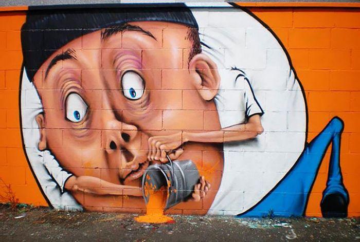 30 fotos de arte de rua em 3D que interagem com seus arredores 12