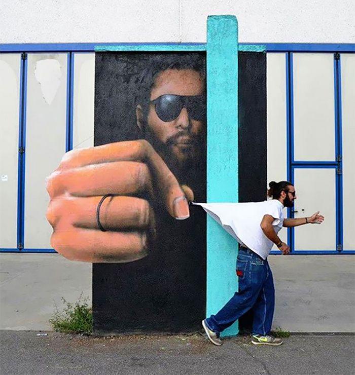 30 fotos de arte de rua em 3D que interagem com seus arredores 13