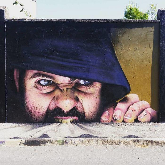 30 fotos de arte de rua em 3D que interagem com seus arredores 15