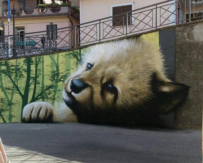 30 fotos de arte de rua em 3D que interagem com seus arredores 17