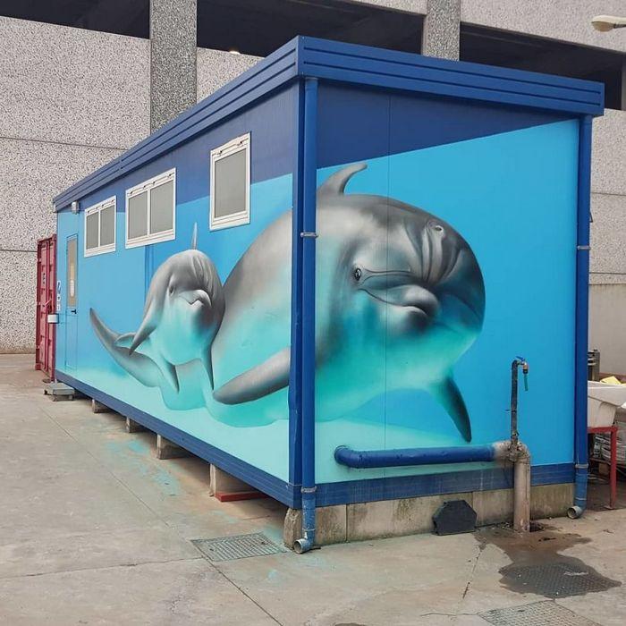30 fotos de arte de rua em 3D que interagem com seus arredores 20