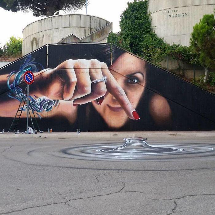 30 fotos de arte de rua em 3D que interagem com seus arredores 22