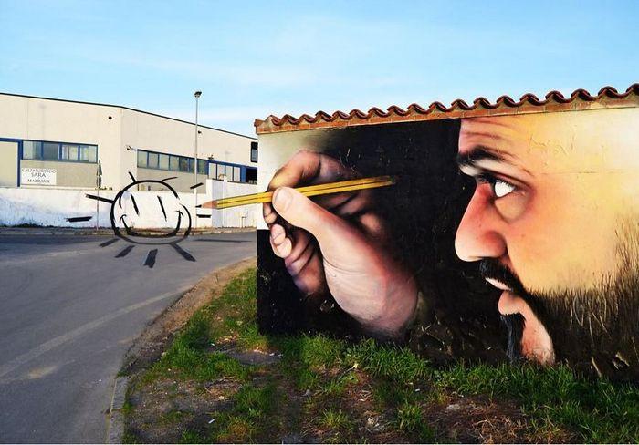 30 fotos de arte de rua em 3D que interagem com seus arredores 26
