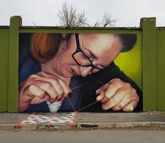 30 fotos de arte de rua em 3D que interagem com seus arredores 28