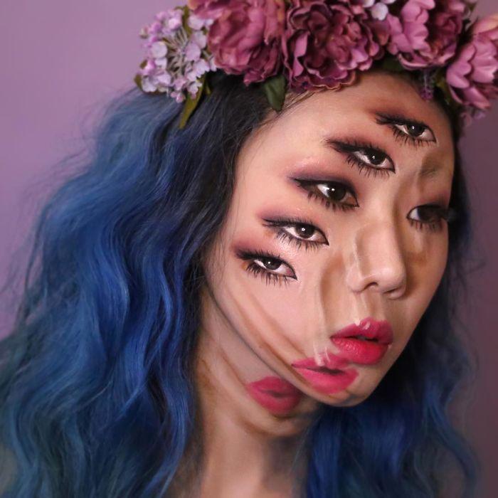 O que este artista faz com o rosto dela mexe seriamente com a sua mente (36 fotos) 2