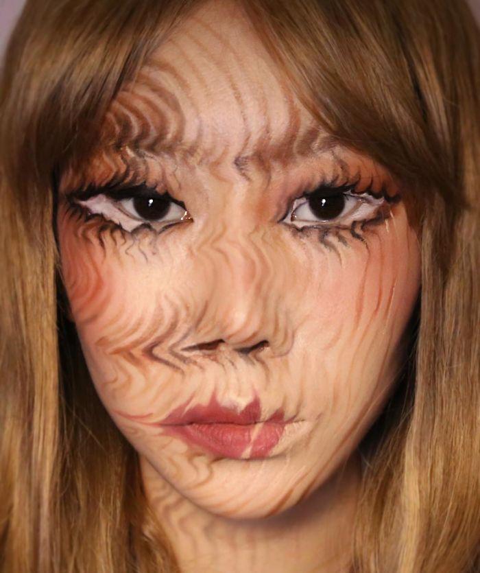 O que este artista faz com o rosto dela mexe seriamente com a sua mente (36 fotos) 7