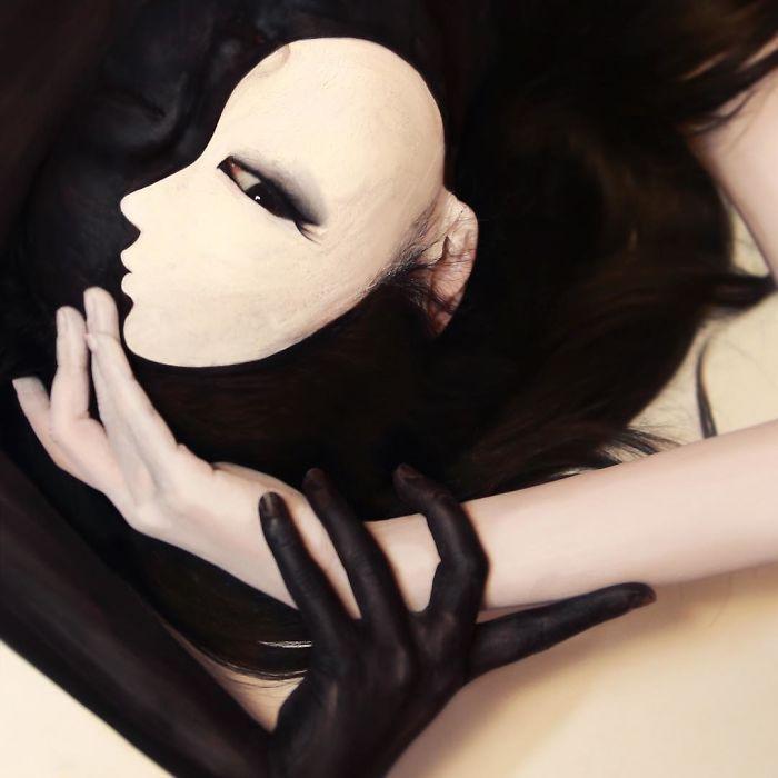 O que este artista faz com o rosto dela mexe seriamente com a sua mente (36 fotos) 9