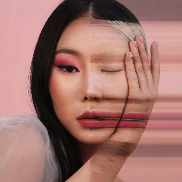 O que este artista faz com o rosto dela mexe seriamente com a sua mente (36 fotos) 11
