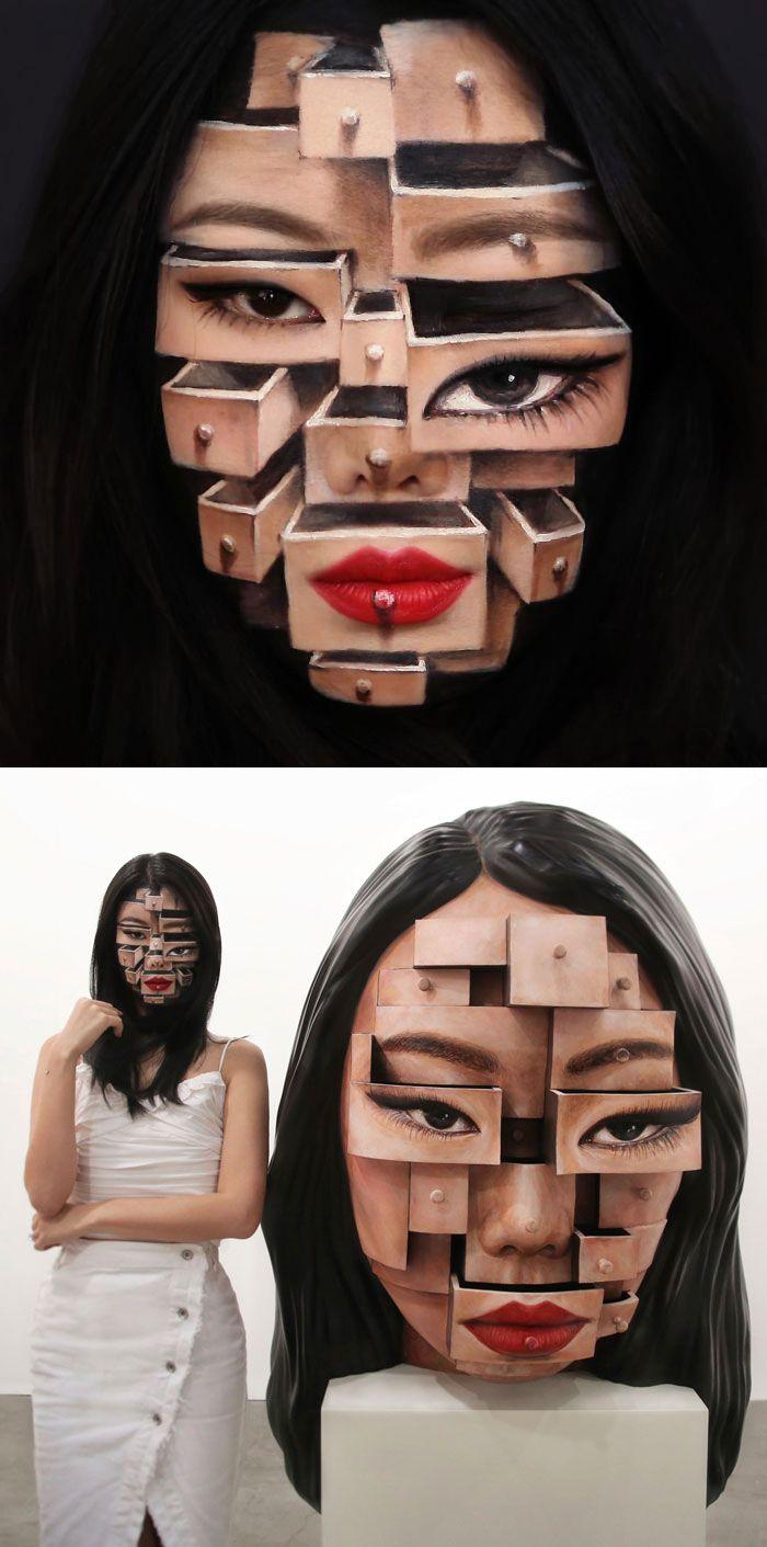 O que este artista faz com o rosto dela mexe seriamente com a sua mente (36 fotos) 14