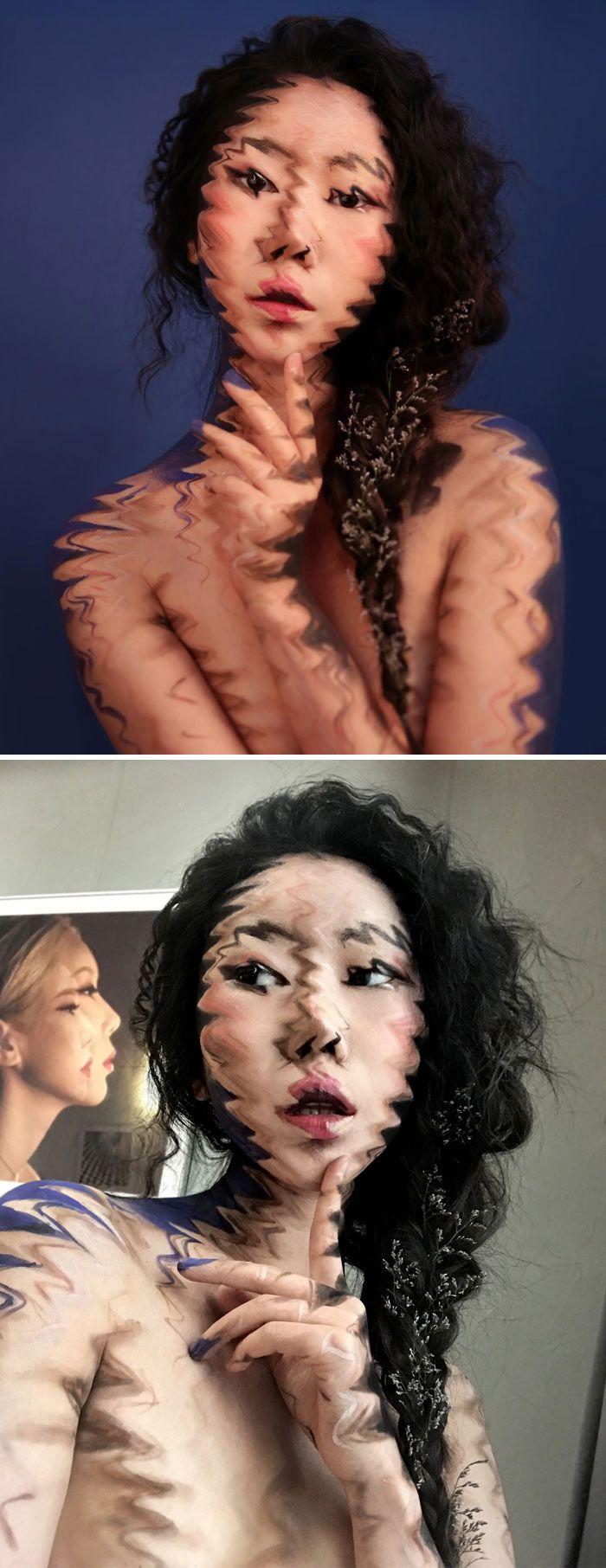 O que este artista faz com o rosto dela mexe seriamente com a sua mente (36 fotos) 18