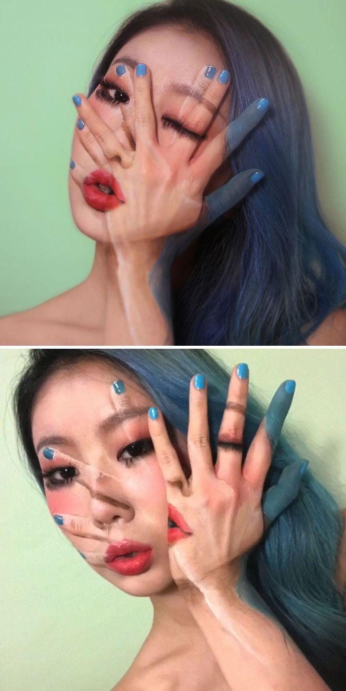 O que este artista faz com o rosto dela mexe seriamente com a sua mente (36 fotos) 19