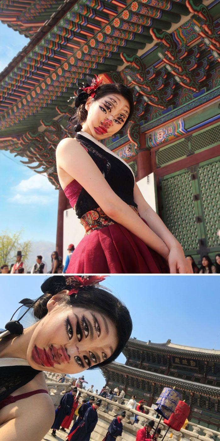 O que este artista faz com o rosto dela mexe seriamente com a sua mente (36 fotos) 22