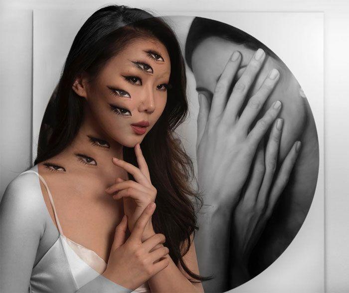O que este artista faz com o rosto dela mexe seriamente com a sua mente (36 fotos) 24
