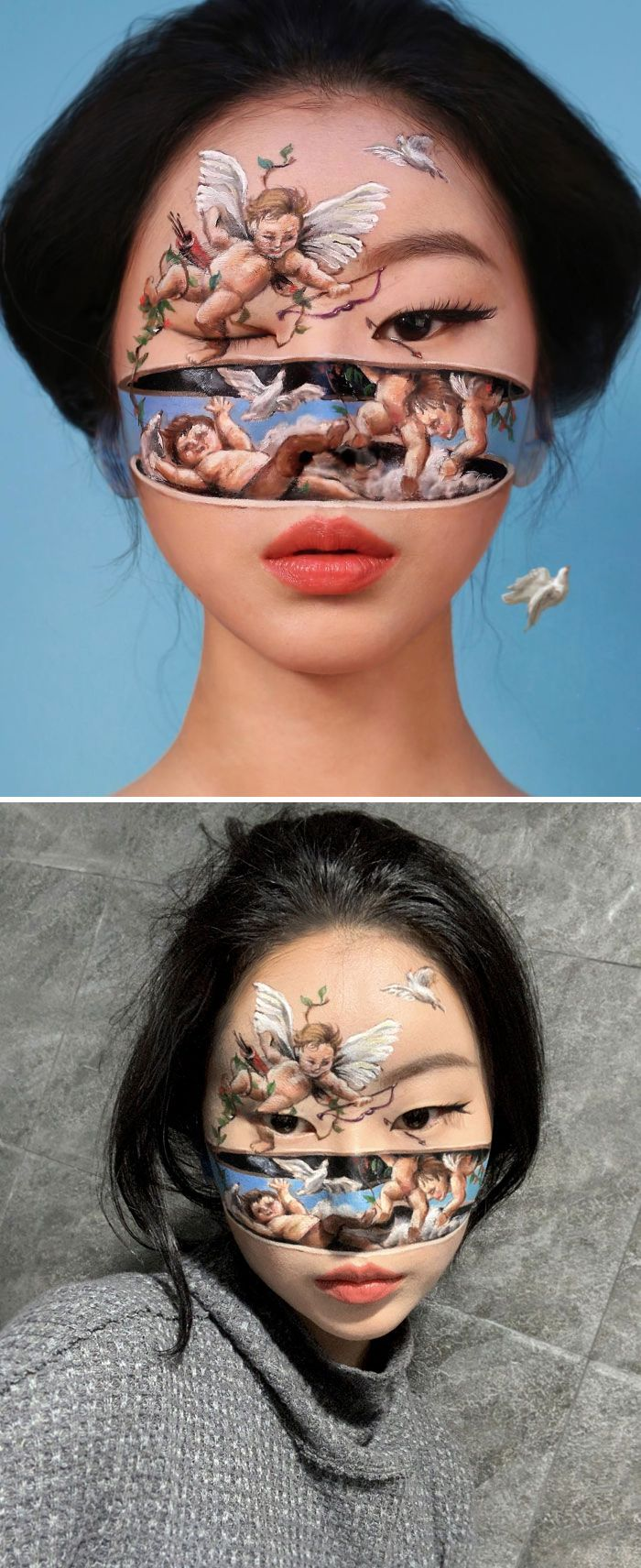 O que este artista faz com o rosto dela mexe seriamente com a sua mente (36 fotos) 28