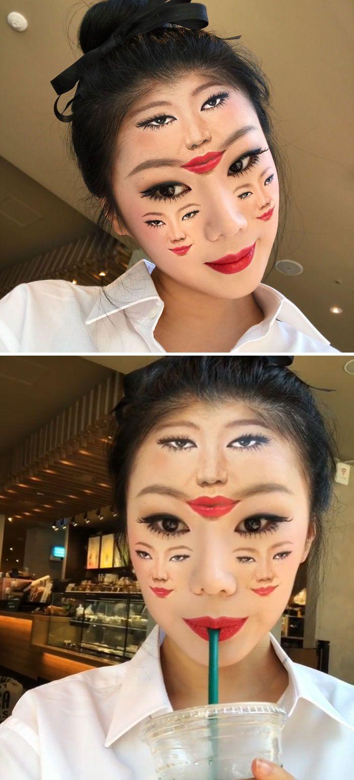 O que este artista faz com o rosto dela mexe seriamente com a sua mente (36 fotos) 29