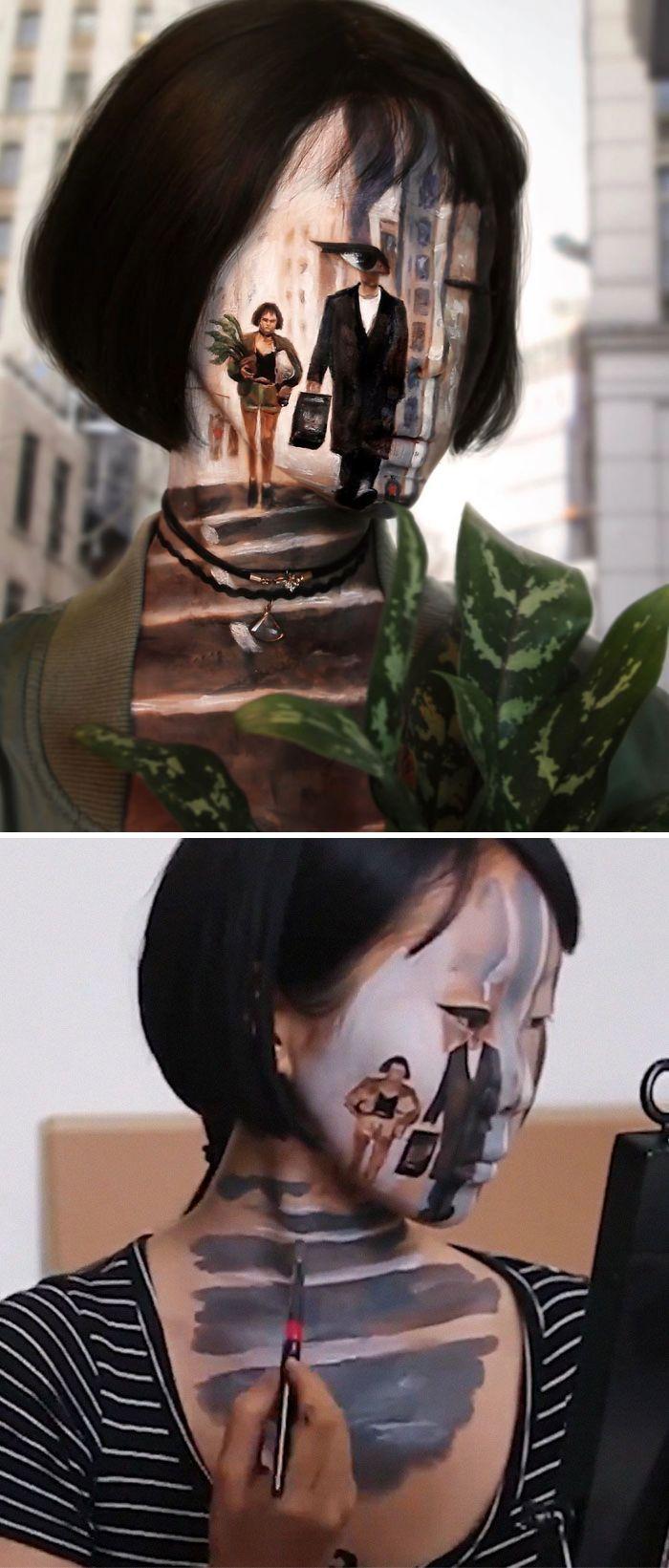 O que este artista faz com o rosto dela mexe seriamente com a sua mente (36 fotos) 32