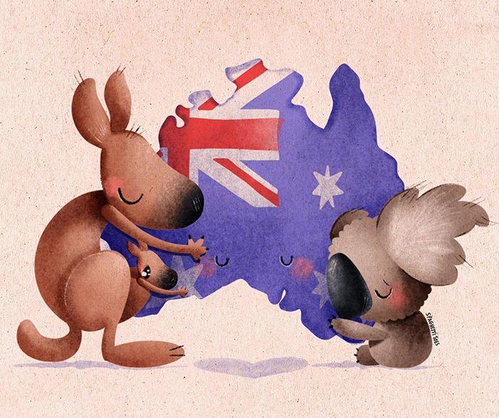 Pessoas de todo o mundo estão compartilhando arte de tributo aos incêndios florestais australianos (30 fotos) 8