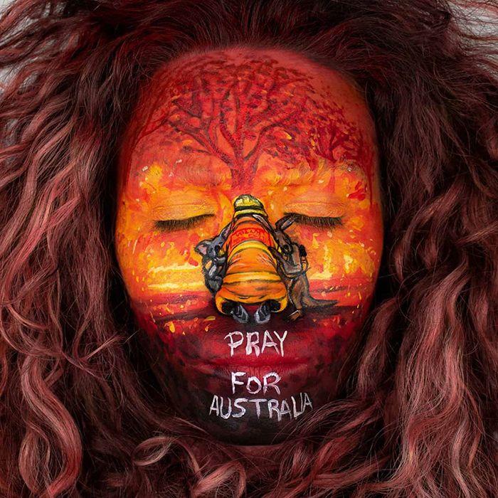 Pessoas de todo o mundo estão compartilhando arte de tributo aos incêndios florestais australianos (30 fotos) 9