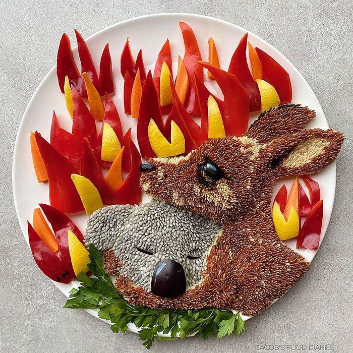 Pessoas de todo o mundo estão compartilhando arte de tributo aos incêndios florestais australianos (30 fotos) 18