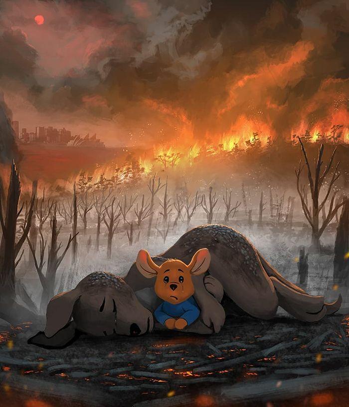 Pessoas de todo o mundo estão compartilhando arte de tributo aos incêndios florestais australianos (30 fotos) 22