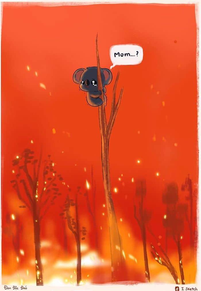 Pessoas de todo o mundo estão compartilhando arte de tributo aos incêndios florestais australianos (30 fotos) 25