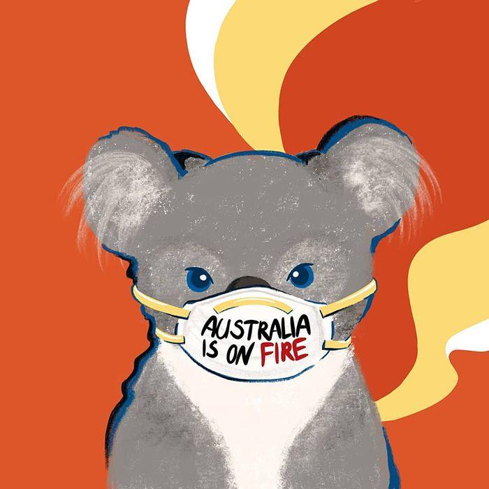 Pessoas de todo o mundo estão compartilhando arte de tributo aos incêndios florestais australianos (30 fotos) 29