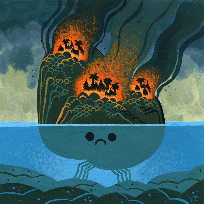 Pessoas de todo o mundo estão compartilhando arte de tributo aos incêndios florestais australianos (30 fotos) 31