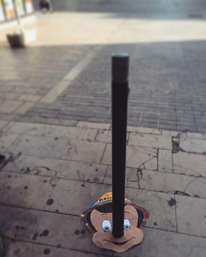 Artista dá vida às ruas simples adicionando personagens divertidos (34 fotos) 9