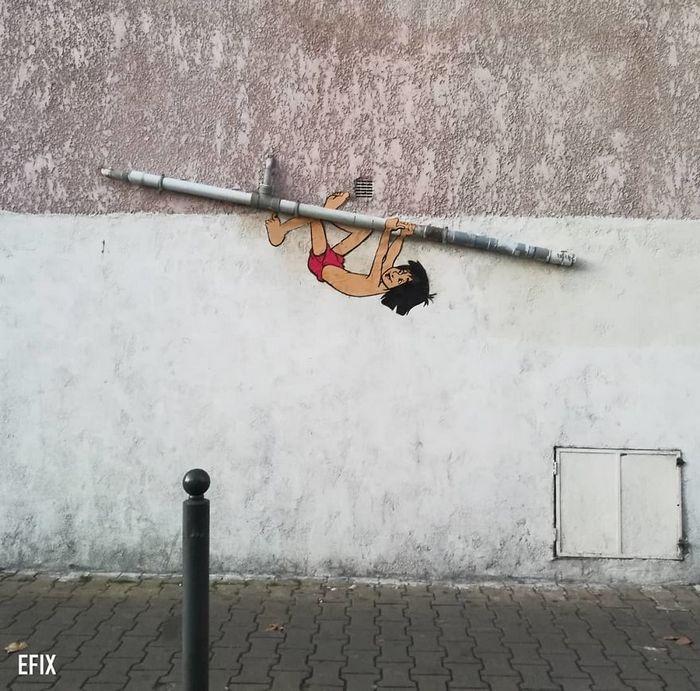 Artista dá vida às ruas simples adicionando personagens divertidos (34 fotos) 15
