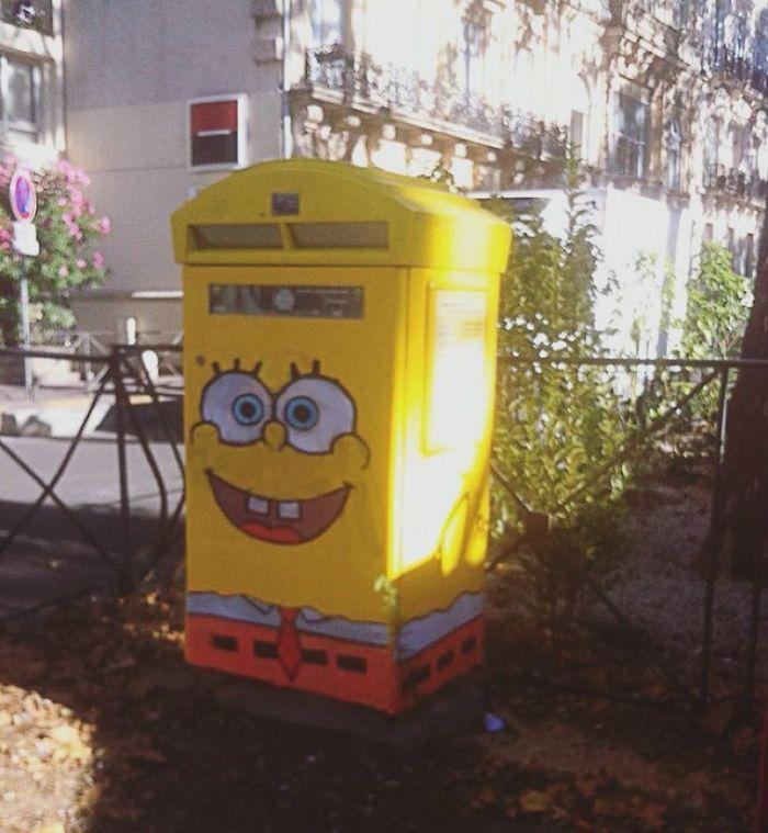 Artista dá vida às ruas simples adicionando personagens divertidos (34 fotos) 16