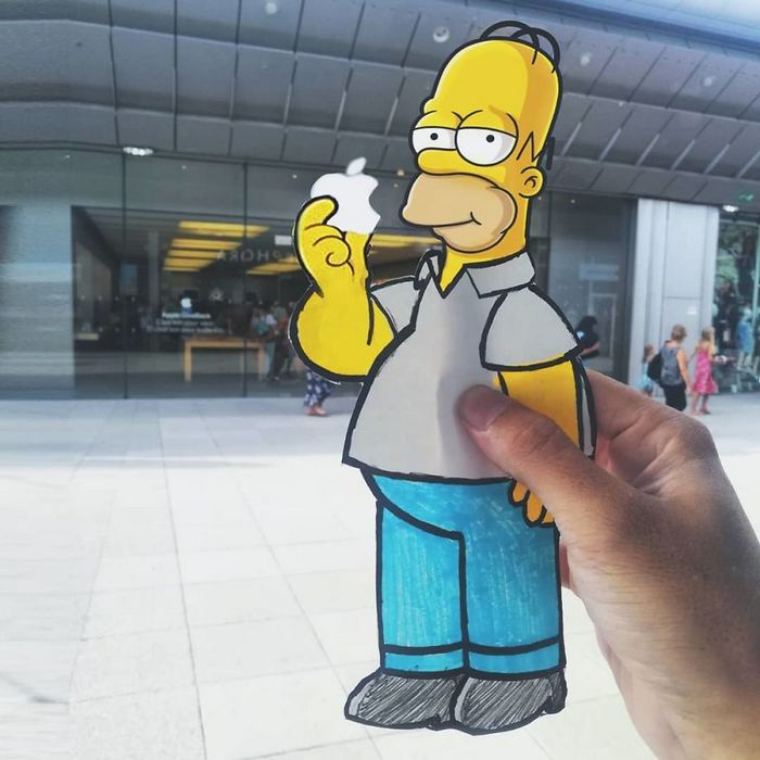 Artista dá vida às ruas simples adicionando personagens divertidos (34 fotos) 18