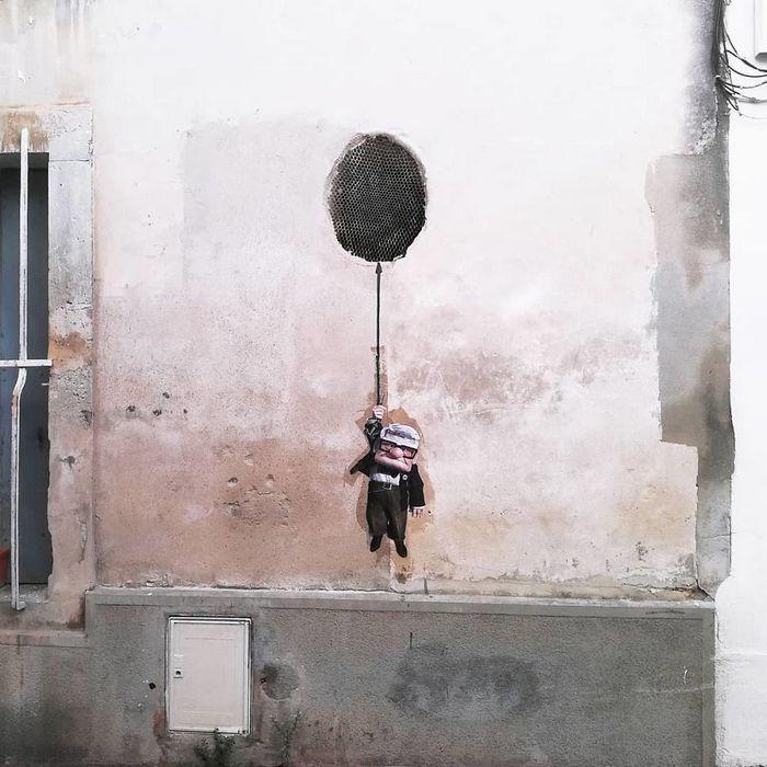 Artista dá vida às ruas simples adicionando personagens divertidos (34 fotos) 19