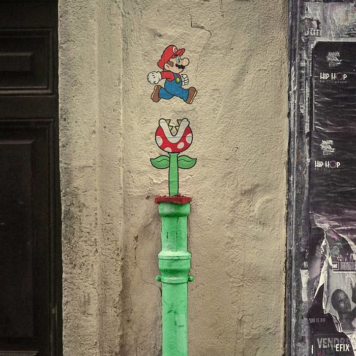 Artista dá vida às ruas simples adicionando personagens divertidos (34 fotos) 26