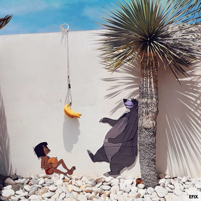 Artista dá vida às ruas simples adicionando personagens divertidos (34 fotos) 30