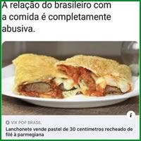 A relação do Brasileiro com a comida