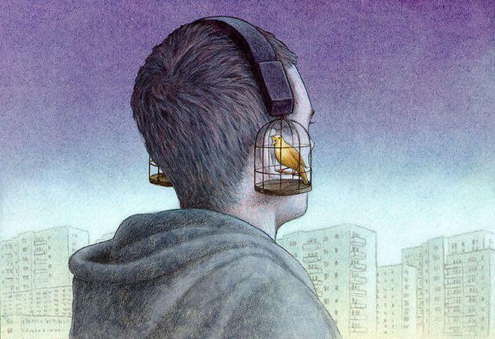 Artista polonês cria 35 metáforas surpreendentemente precisas sobre nossa sociedade moderna 7