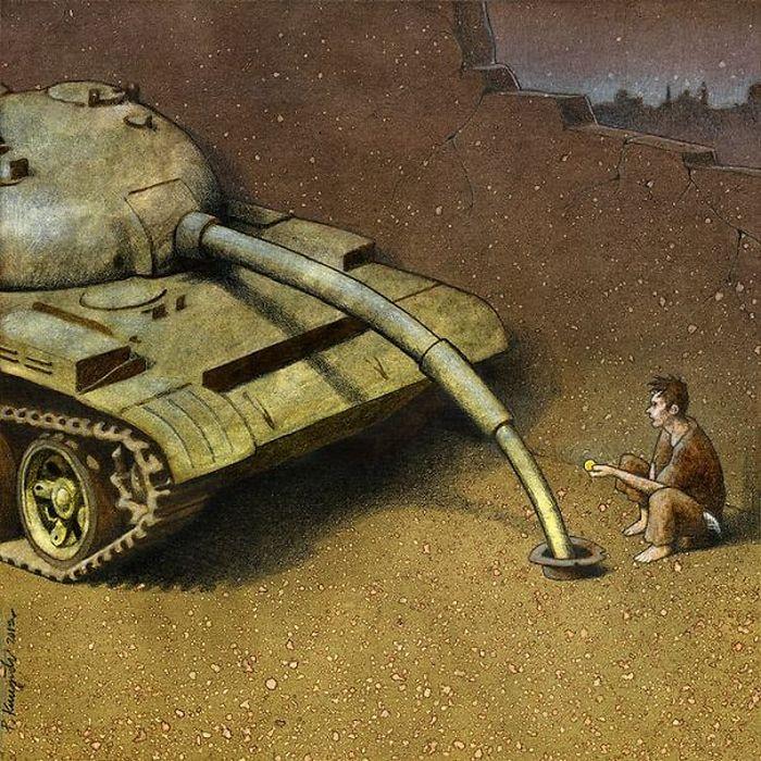 Artista polonês cria 35 metáforas surpreendentemente precisas sobre nossa sociedade moderna 8