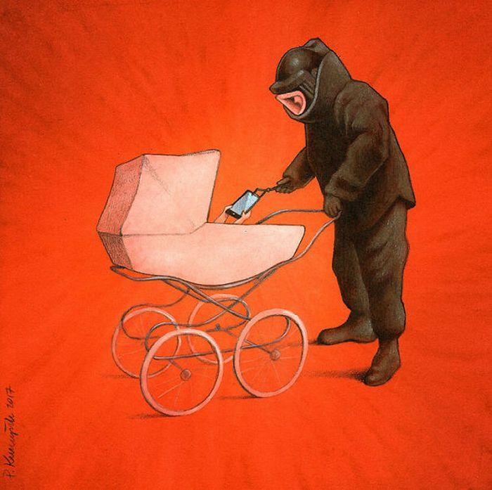 Artista polonês cria 35 metáforas surpreendentemente precisas sobre nossa sociedade moderna 10