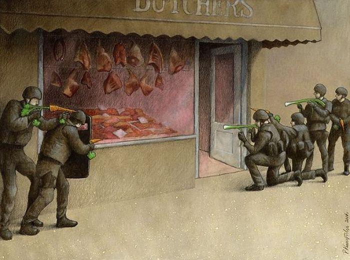 Artista polonês cria 35 metáforas surpreendentemente precisas sobre nossa sociedade moderna 33