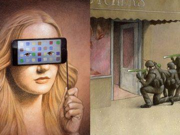 Artista polonês cria 35 metáforas surpreendentemente precisas sobre nossa sociedade moderna 4
