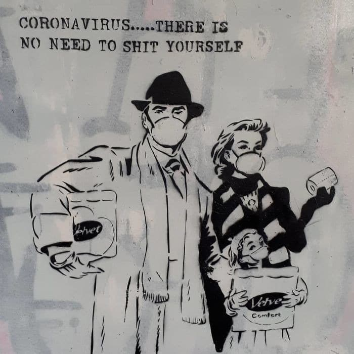 35 grafites relacionados ao coronavírus 35