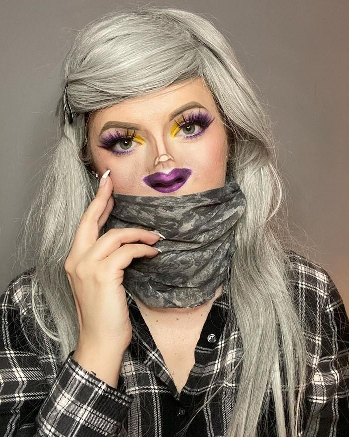 Esta pequena maquiagem para o rosto é a solução perfeita para uma máscara de coronavírus (37 fotos) 5