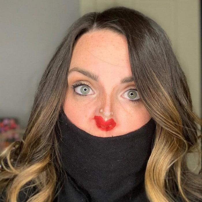 Esta pequena maquiagem para o rosto é a solução perfeita para uma máscara de coronavírus (37 fotos) 6