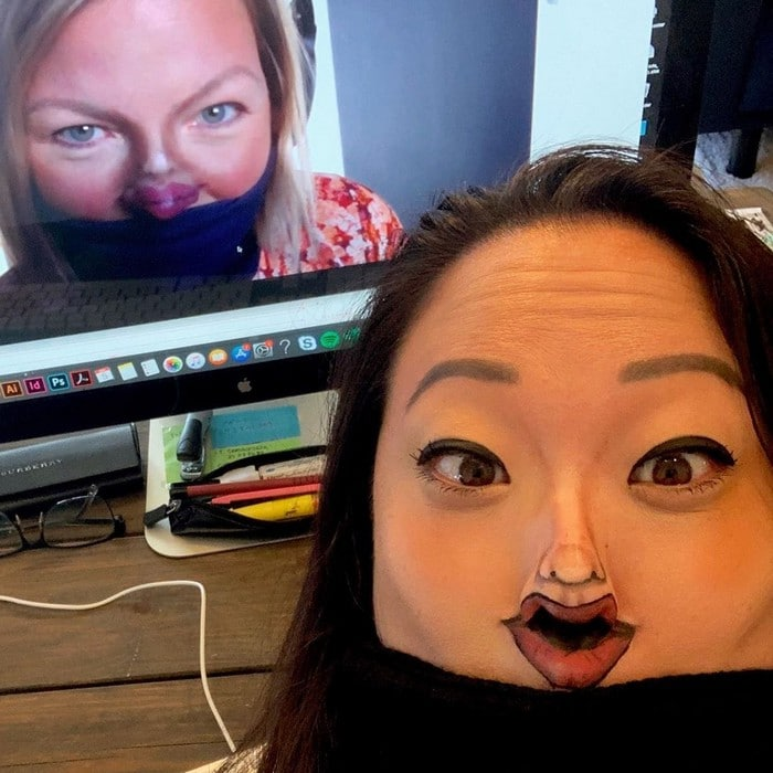 Esta pequena maquiagem para o rosto é a solução perfeita para uma máscara de coronavírus (37 fotos) 9