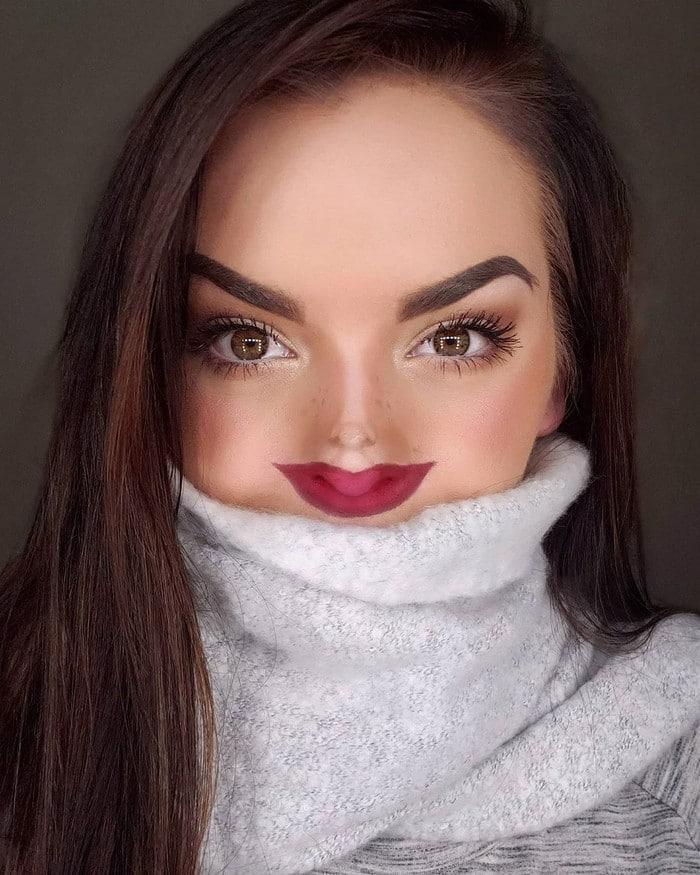 Esta pequena maquiagem para o rosto é a solução perfeita para uma máscara de coronavírus (37 fotos) 12