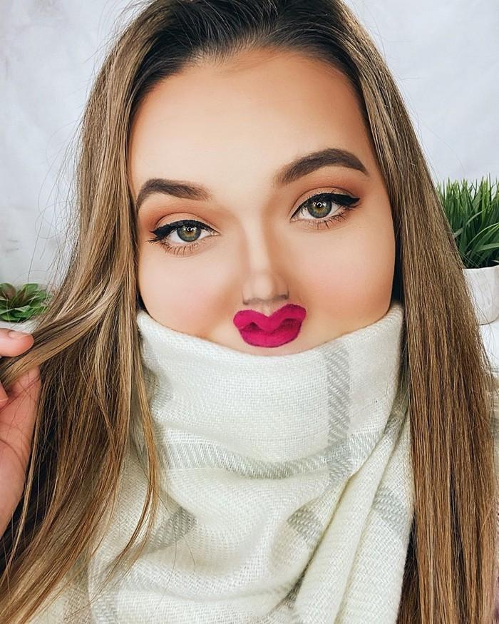Esta pequena maquiagem para o rosto é a solução perfeita para uma máscara de coronavírus (37 fotos) 15