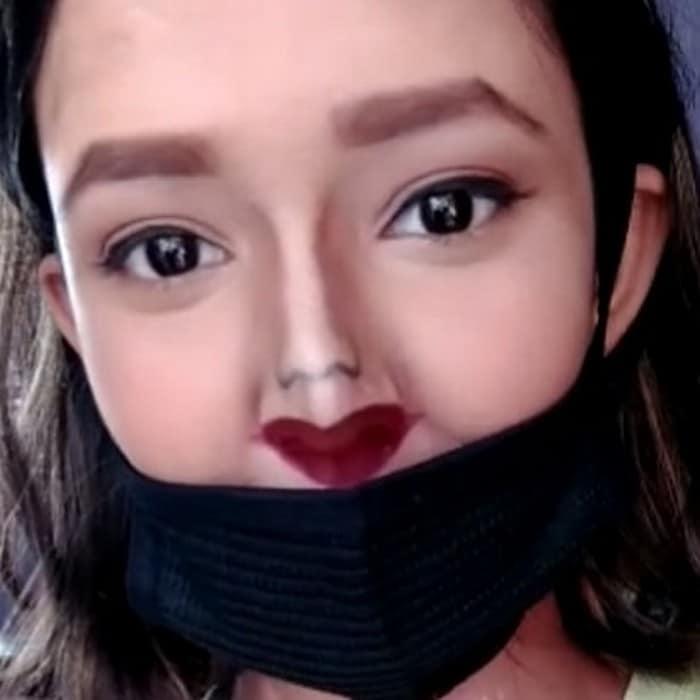 Esta pequena maquiagem para o rosto é a solução perfeita para uma máscara de coronavírus (37 fotos) 16